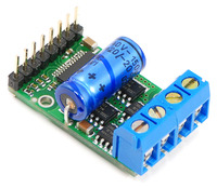 Pololu high-power motor driver with included components soldered in.