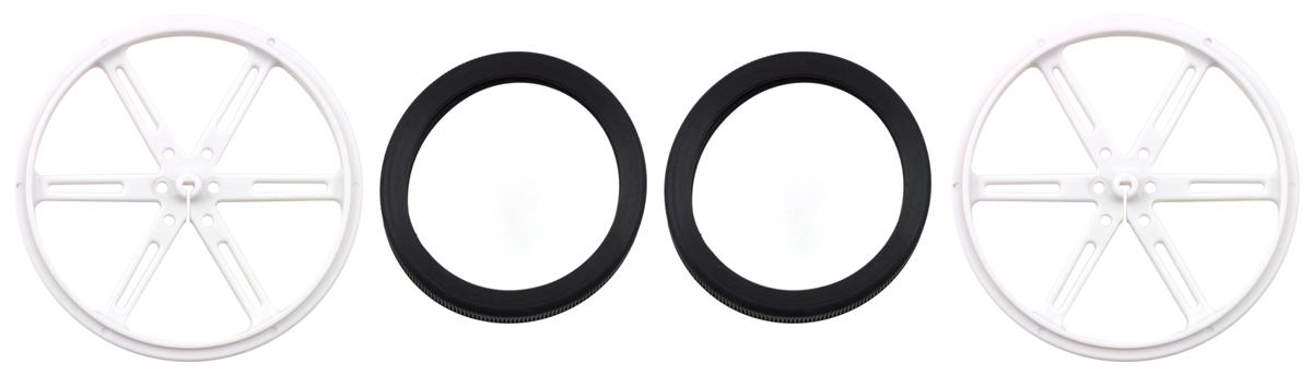 Pololu Wheel 90×10mm Pair-White 1439