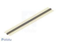 "0.100"" (2.54 mm) Breakaway Male Header: 1×40-Pin, Straight, Double-Sided"
