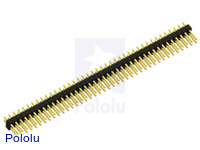 "0.100"" (2.54 mm) Breakaway Male Header: 2×40-Pin, Straight"
