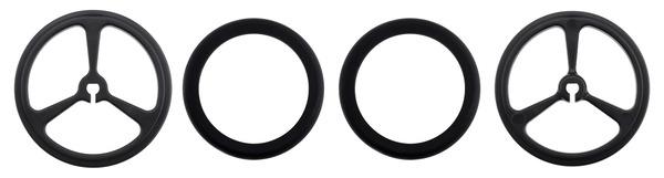 2 auf Knopfdru POLOLU WHEEL 40×7MM BLACK Rad schwarz Achse D Schnitt Anz.Stk