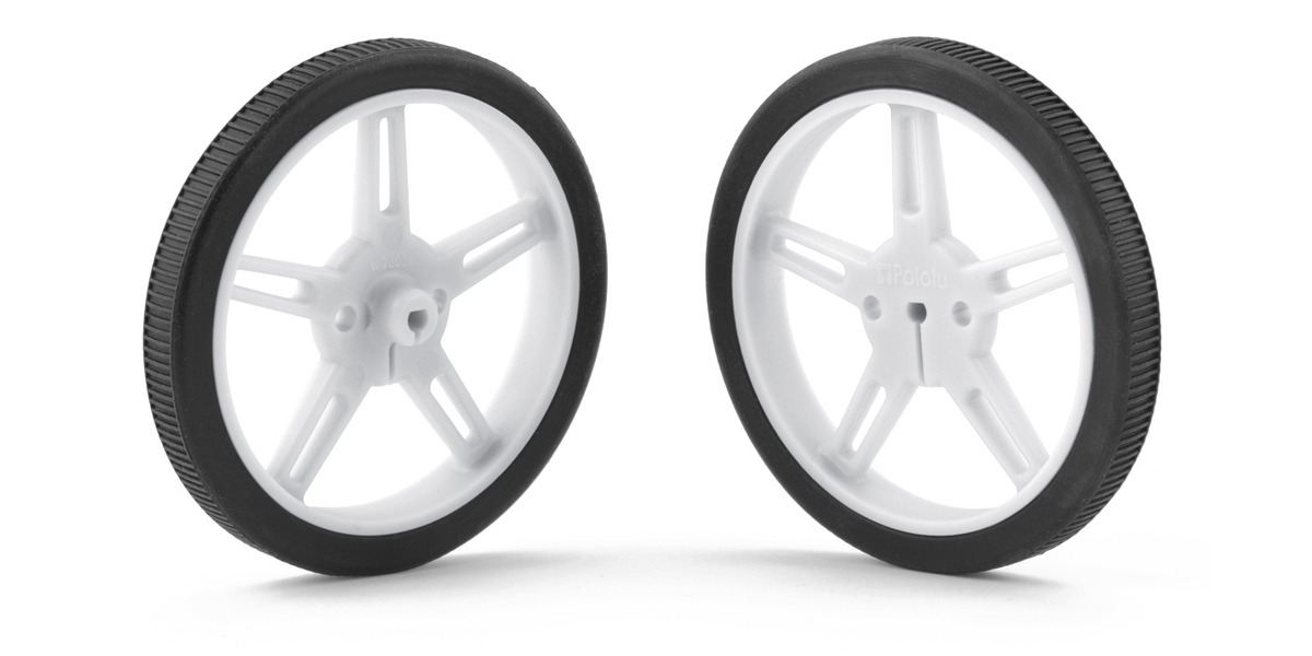White 1424 Pololu Wheel 60×8mm Pair