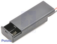 2-AAA Battery Holder, Enclosed with Switch