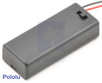 2-AAA battery holder enclosed with switch.