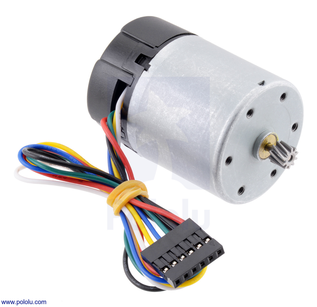 50:1 Metal Gearmotor 37Dx70L mm with 64 CPR Encoder (Spur Pinion)