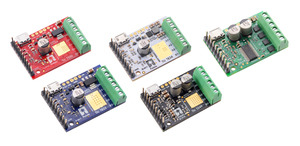 Tic T500, T834, T825, T249, and 36v4 USB Multi-Interface Stepper Motor Controllers.