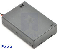 3-AA battery holder enclosed with switch.
