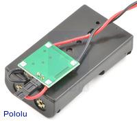 Bodhilabs VPack5.0V 2-AA battery holder with integrated 5V regulator.