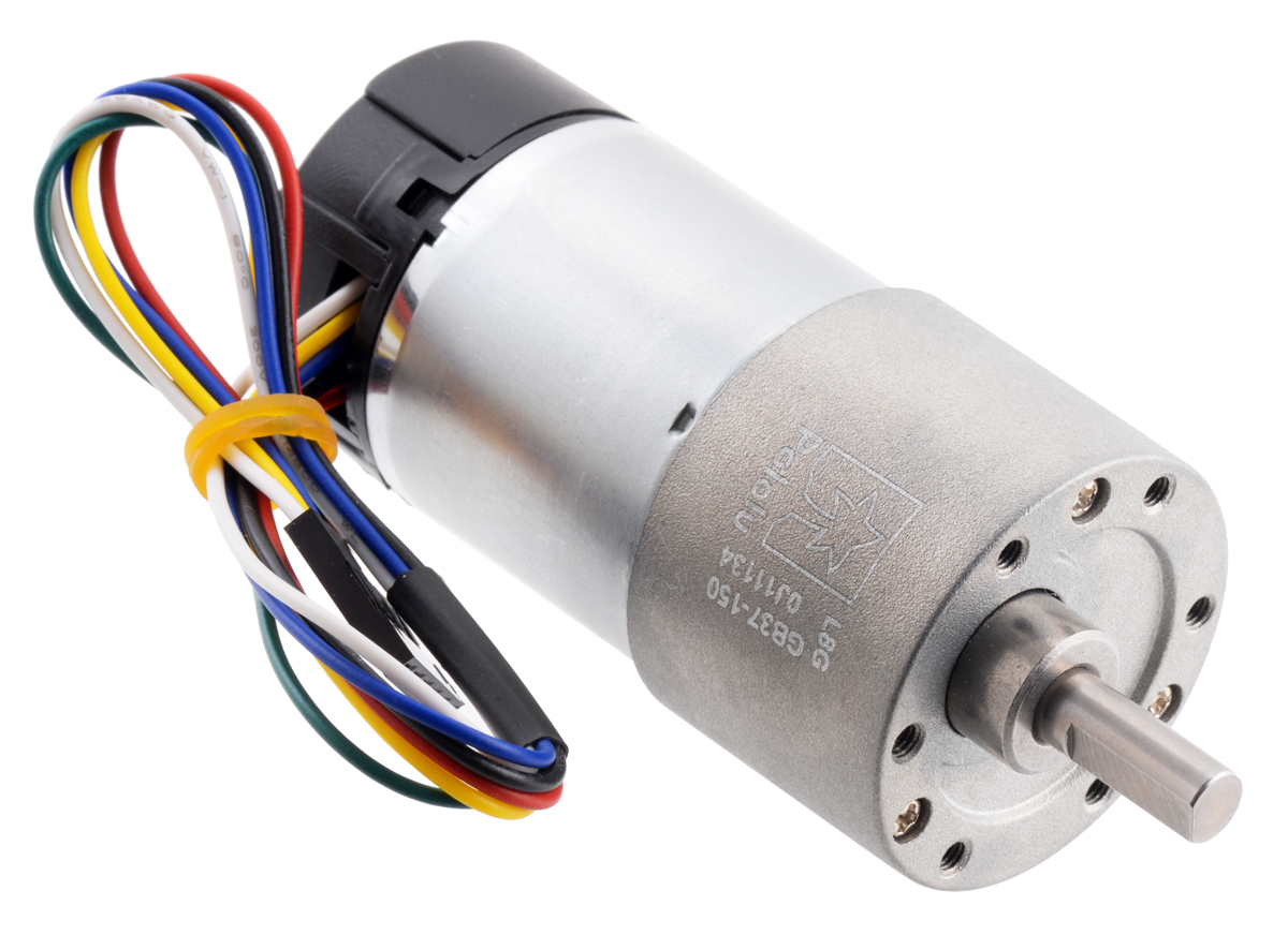 [ZTBE_9966]  Pololu - 150:1 Metal Gearmotor 37Dx73L mm 12V with 64 CPR Encoder (Helical  Pinion) | Dc Motor Encoder Wiring Diagram |  | Pololu