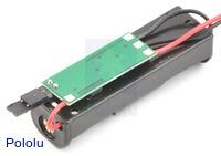 Bodhilabs VPack5.0V 1-AA battery holder with integrated 5V regulator.