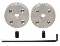 Pololu Universal Aluminum Mounting Hub for 4mm Shaft, M3 Holes (2-Pack)