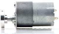 Gearmotor with bracket and hub.