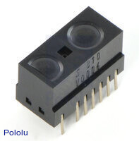 Sharp GP2Y0D805Z0F, GP2Y0D810Z0F, or GP2Y0D815Z0F digital distance sensor.