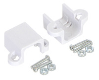 Pololu micro metal gearmotor bracket extended pair with included screws and nuts.