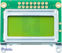 8x2 Character LCD - Silver Bezel (Parallel Interface)