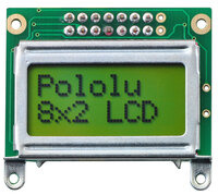 8×2 character LCD – silver bezel.