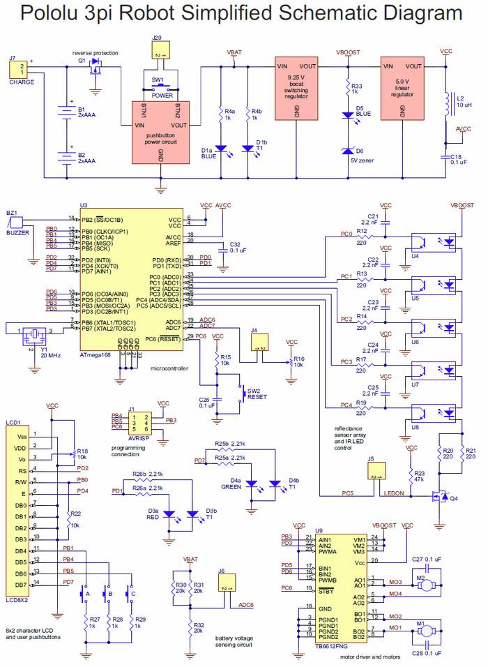 pololu 5 e 3pi simplified schematic diagram rh pololu com 3 Wire Diagram Data Diagram 3