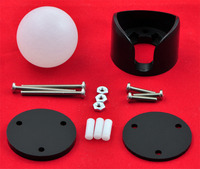 Pololu ball caster with 1 inch plastic ball with included hardware.