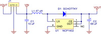 Pololu step-up voltage regulator NCP1402 schematic diagram.