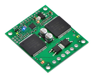 Pololu qik 2s12v10 dual serial motor controller.