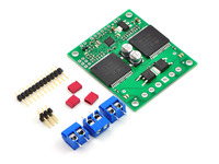 Pololu qik 2s12v10 dual serial motor controller with included hardware.