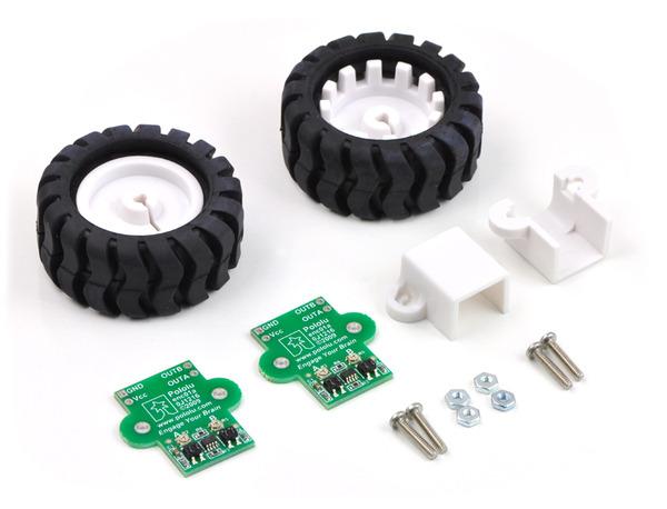 Kit Infrarrojos para encoder, ruedas todoterreno y soporte micromotores