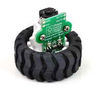 Encoder for Pololu wheel 42×19mm with wheel, motor, and bracket.