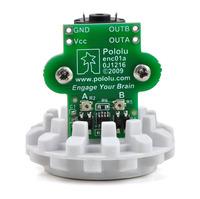Encoder for Pololu wheel 42×19mm with motor, bracket, and hub.