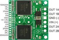 Pololu High-Current Dual Motor Driver Carrier Board (VNH2SP30 or VNH3SP30) pinouts.