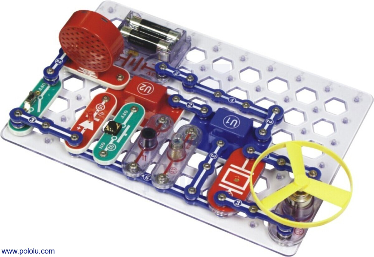 Pololu Snap Circuits Jr 100 In 1 Sc Electrical Electronic Circuit Symbols