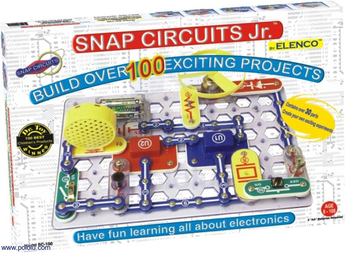 Snap Circuits Jr Sc 100 Police Bicycle Siren Electronic Projects Box Contains