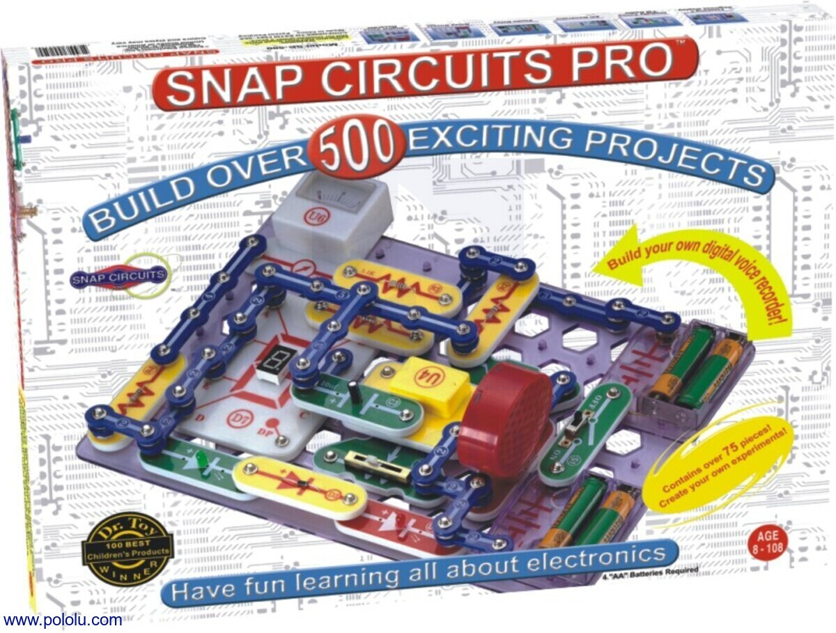 Pololu Snap Circuits 300 In 1 Sc Jr 100 Kit 500 Box