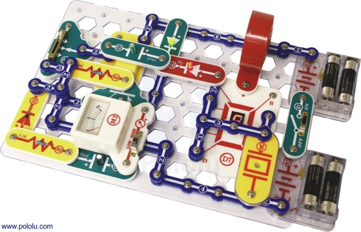 pololu snap circuits pro 500 in 1 sc 500electronics educational kits snap circuits pro 500 in 1 sc 500