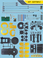 OWI-535 Robotic Arm Edge kit parts.