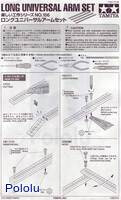 Instructions for Tamiya 70156 long universal arm set page 1.