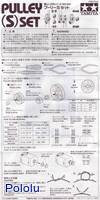 Instructions for Tamiya 70140 Pulley (S) Set page 1.