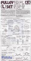 Instructions for Tamiya 70141 Pulley (L) Set page 1.
