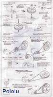 Instructions for Tamiya 70141 Pulley (L) Set page 2.