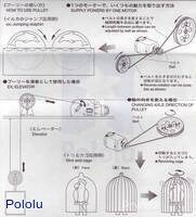 Instructions for Tamiya 70121 Pulley Unit Set page 4.