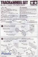 Instructions for Tamiya 70100 Track and Wheel Set page 1.