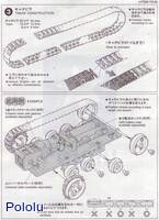 Instructions for Tamiya 70100 Track and Wheel Set page 2.