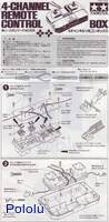 Instructions for Tamiya 70106 4-Channel Remote Control Box page 1.