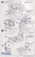 Instructions for Tamiya 75020 Line Tracing Snail Kit page 4.