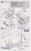 Instructions for Tamiya 75020 Line Tracing Snail Kit page 5.