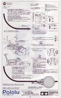 Instructions for Tamiya 75020 Line Tracing Snail Kit page 6.