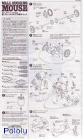Instructions for Tamiya 70068 Wall-Hugging Mouse Kit page 1.