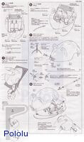 Instructions for Tamiya 70068 Wall-Hugging Mouse Kit page 3.