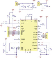 Schematic diagram of the md09b A4983 stepper motor driver carrier.