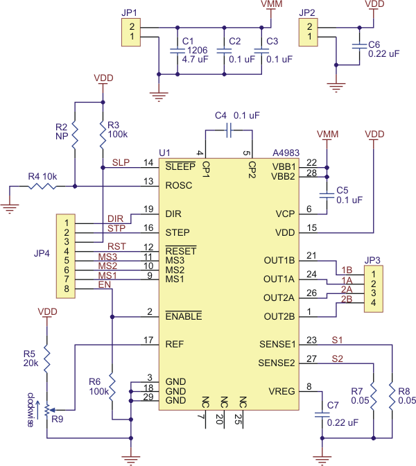 pololu a4983 stepper motor driver carrier wiring diagram for chopper 36 volt wiring diagram for forward and reverse switch for 1985 club car