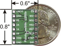 A4983/A4988 stepper motor driver carrier with dimensions.